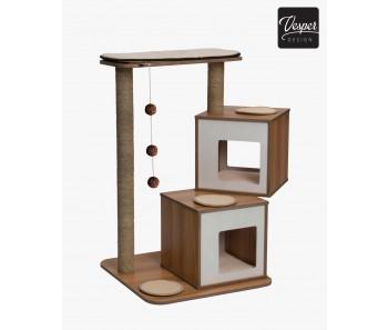 Vesper Cat Furniture V-Double 76.5x20x44cm - Available in Walnut & Black colour