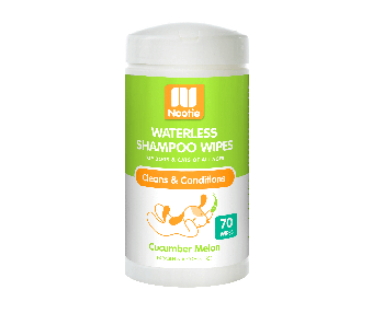 Nootie Waterless Shampoo Wipes Cucumber Melon 70pcs