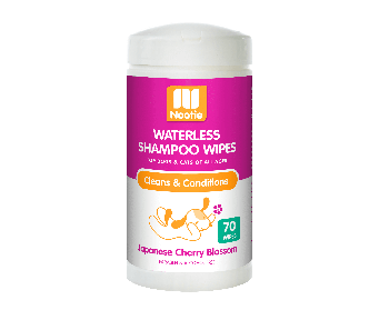 Nootie Waterless Shampoo Wipes Japanese Cherry Blossom 70pcs