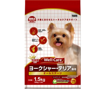 Well Care Yorkshire Terrier All Stages - 1.5kg