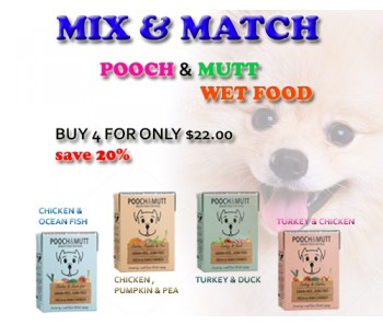 ''Pooch & Mutt Wet Food Mix & Match 375g