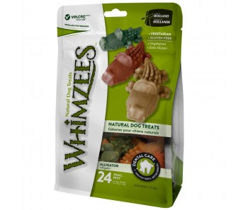 Whimzees All Natural Dog Dental Chews - Alligator Small 24pcs