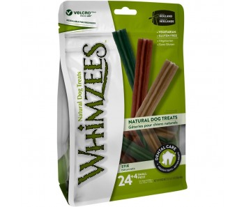 Whimzees All Natural Dog Dental Chews - Stix Small 24+4pcs