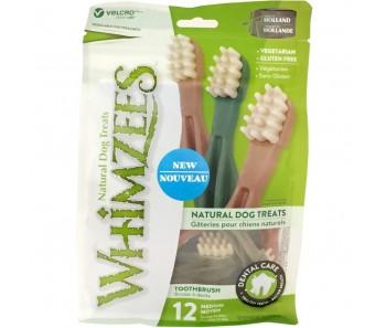 Whimzees All Natural Dog Dental Chews - Toothbrush Medium 12pcs