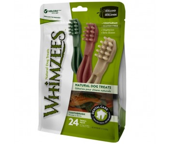Whimzees All Natural Dog Dental Chews - Toothbrush Small 24pcs