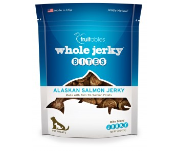 Fruitables Whole Jerky Bites Alaskan Salmon Dog Treats 141g