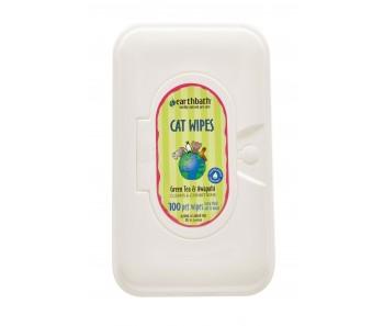 Earthbath Wipes Cat Green Tea Leaf - 100 pieces