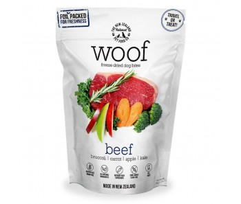 WOOF Freeze Dried Dog Bites Treats Beef - 50g