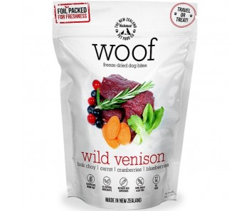 WOOF Wild Venison Freeze Dried Dog Bites Treats 50g