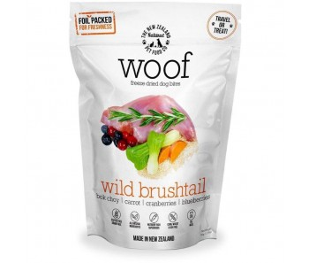 WOOF Wild Brushtail Freeze Dried Dog Bites Treats 50g