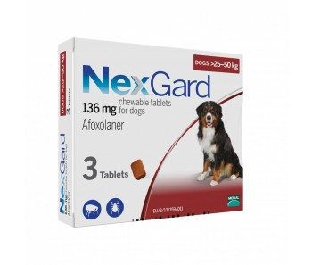 NexGard Chews For X-Large Dogs 25-50kg - Available in 3 & 6 Tablets
