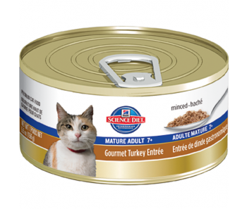 Science Diet Feline Canned Mature Adult Turkey Entrée - 5.5oz
