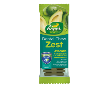 "Happi Doggy Dental Chew Zest 4"" Avocado - 25g"