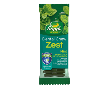"Happi Doggy Dental Chew Zest 4"" Mint - 25g"