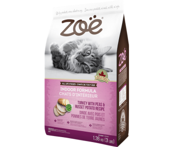 Zoe Cat Indoor Formula Turkey with Peas and Russet Potato - 1.3kg