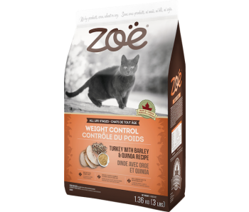 Zoe Cat Weight Control Turkey with Barley & Quinoa - 2.5kg