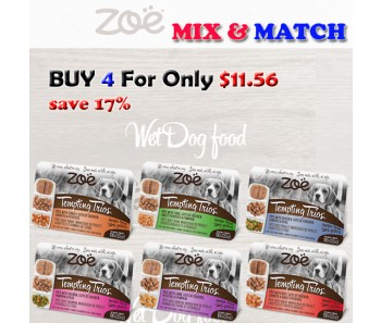 ''Zoe Dog Pate Wet Food Mix & Match 100g