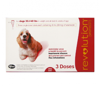 Revolution Topical Spot On for Dogs 10.1 - 20kg (Red) 3 Doses